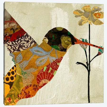 Humming bird brocade III Canvas Print #9686} by Color Bakery Canvas Artwork