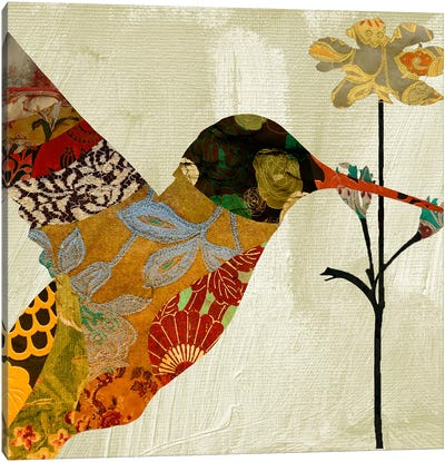 Humming bird brocade III Canvas Art Print