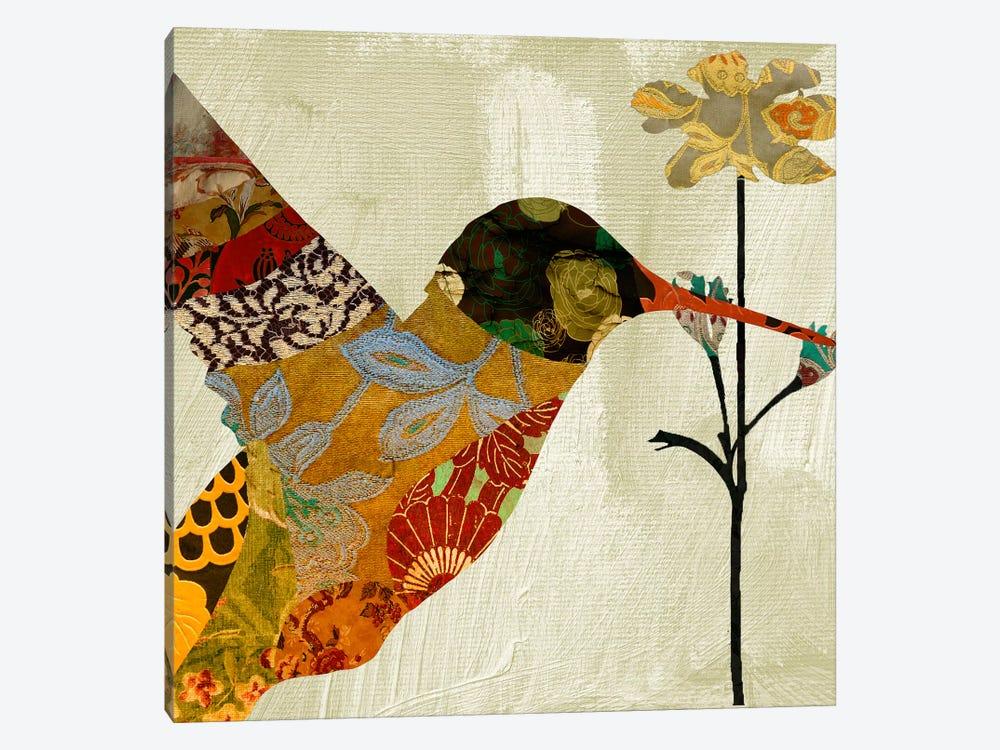 Humming bird brocade III by Color Bakery 1-piece Canvas Art Print