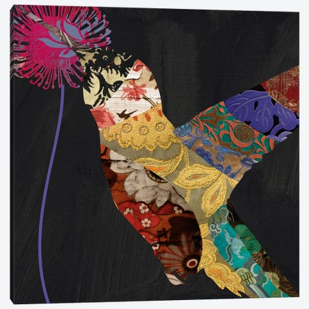 Humming bird brocade III Canvas Print #9687} by Color Bakery Canvas Artwork