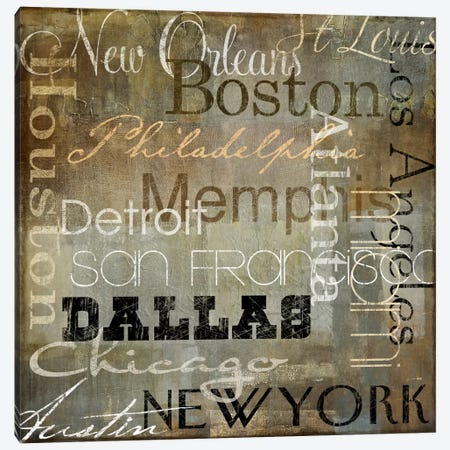 Cities of The World I Canvas Print #9688} by Color Bakery Canvas Print