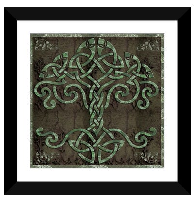Celtic Tree Life Framed Art Print