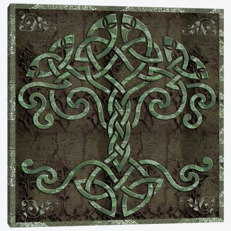 Celtic Tree Life Canvas Print #9703} by Mindy Sommers Canvas Artwork