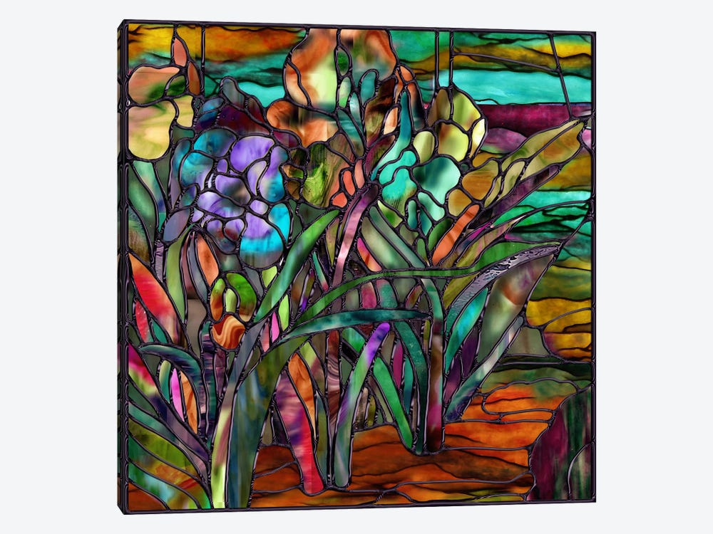 Candy Coated Irises by Mindy Sommers 1-piece Canvas Artwork