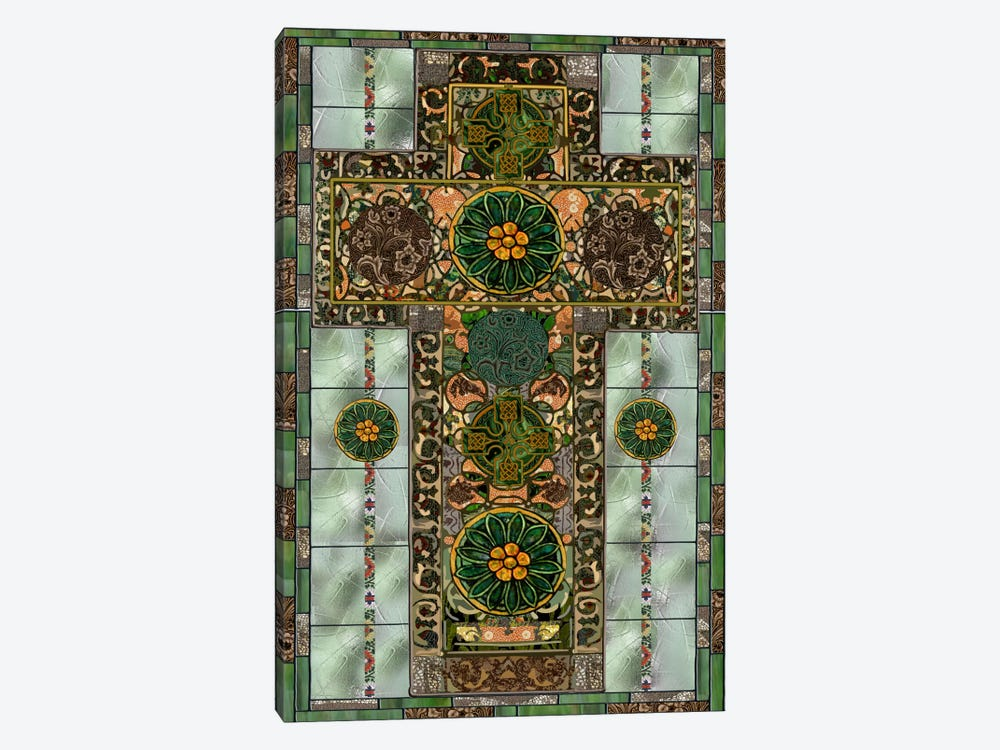 Celtic Cross by Mindy Sommers 1-piece Canvas Art Print