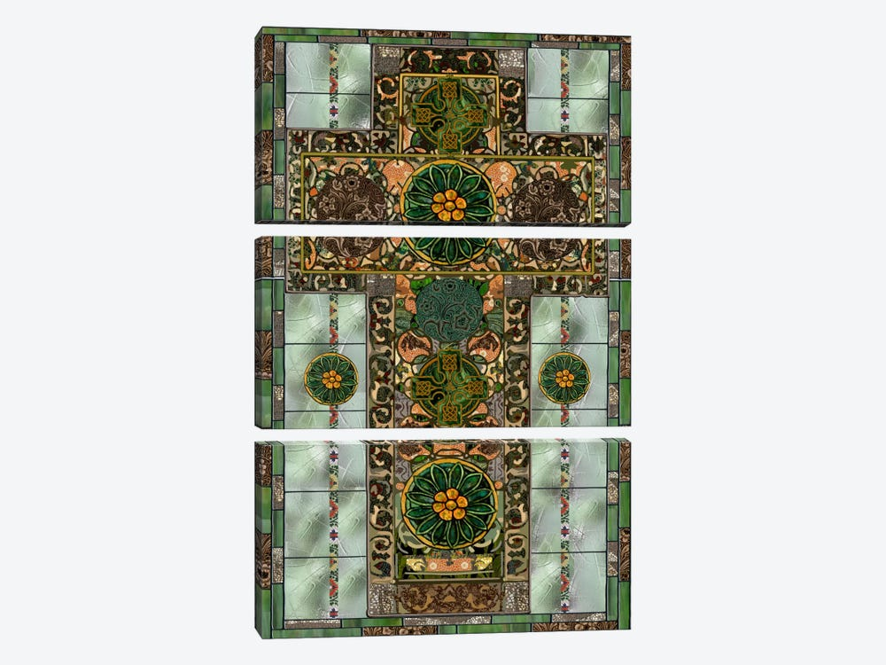 Celtic Cross by Mindy Sommers 3-piece Canvas Print