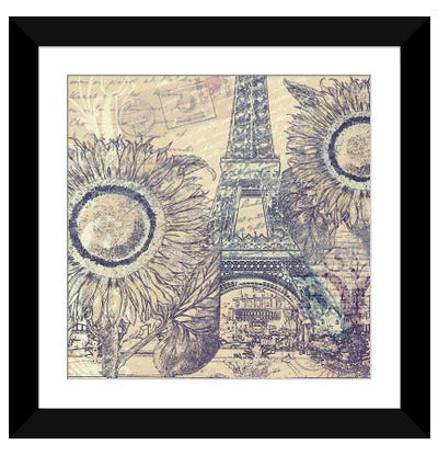 Paris Pastiche II Framed Art Print