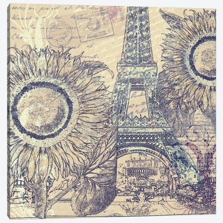 Paris Pastiche II Canvas Print #9707} by Mindy Sommers Canvas Print