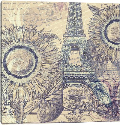 Paris Pastiche II Canvas Art Print