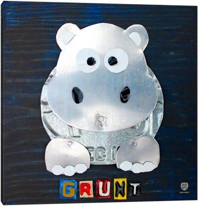 """Grunt"" The Hippo Canvas Art Print"