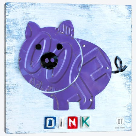 """Oink"" The Pig Canvas Print #9712} by Design Turnpike Art Print"