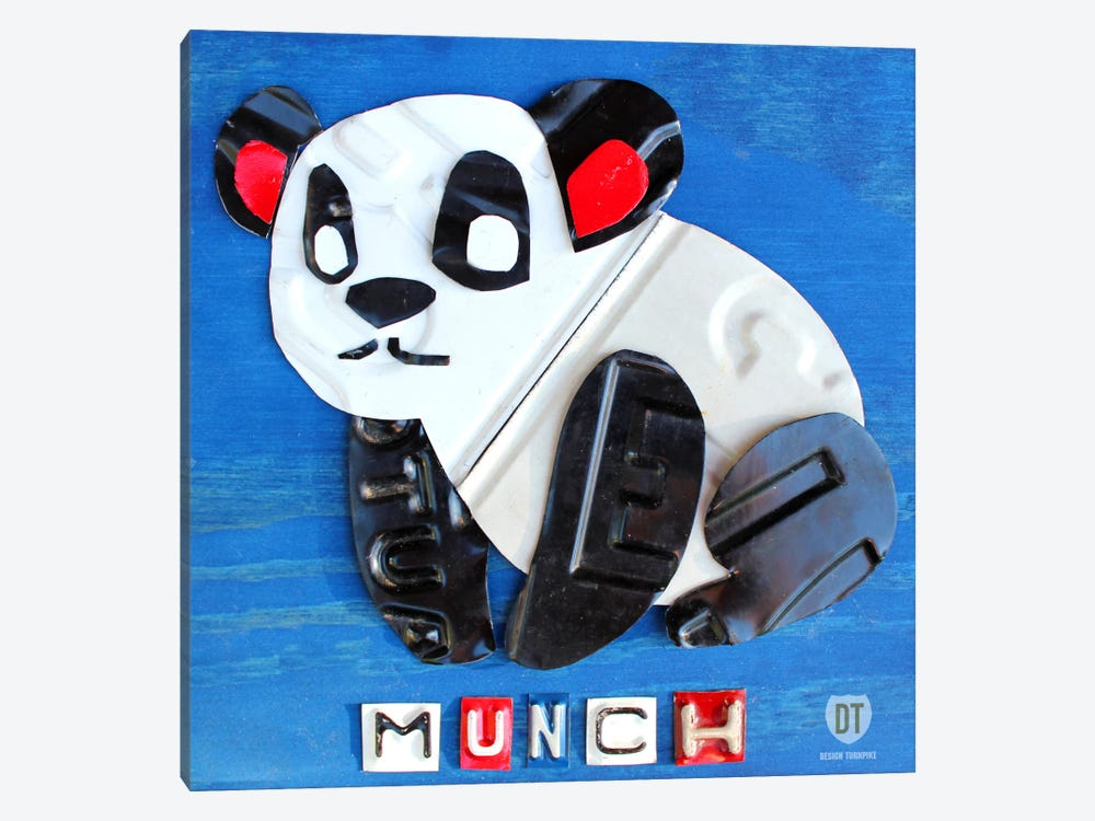 """Munch"" The Panda by Design Turnpike 1-piece Canvas Wall Art"