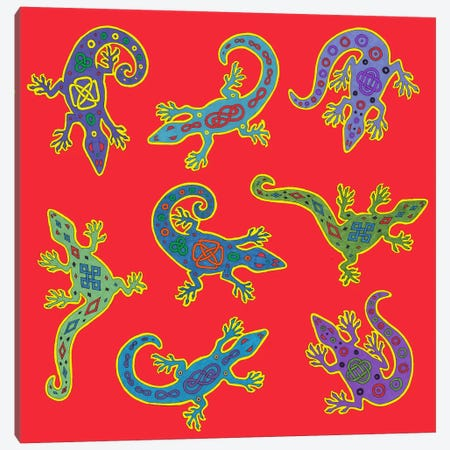 8 Lizards Canvas Print #9717} by Willow Bascom Canvas Artwork