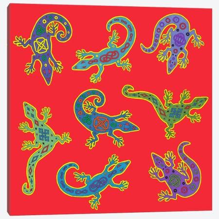 8 Lizards Canvas Print #9717} by Willow Bascom Canvas Artwork