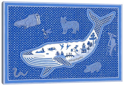 W Whale Canvas Art Print