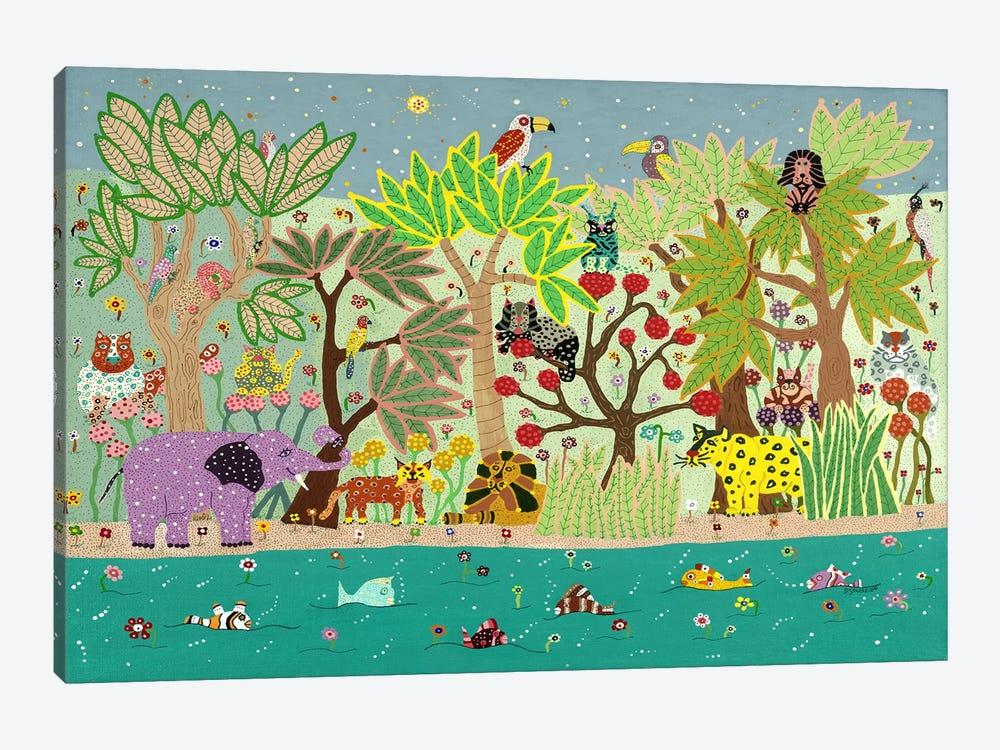 Jungle Beasts by David Sheskin 1-piece Canvas Wall Art