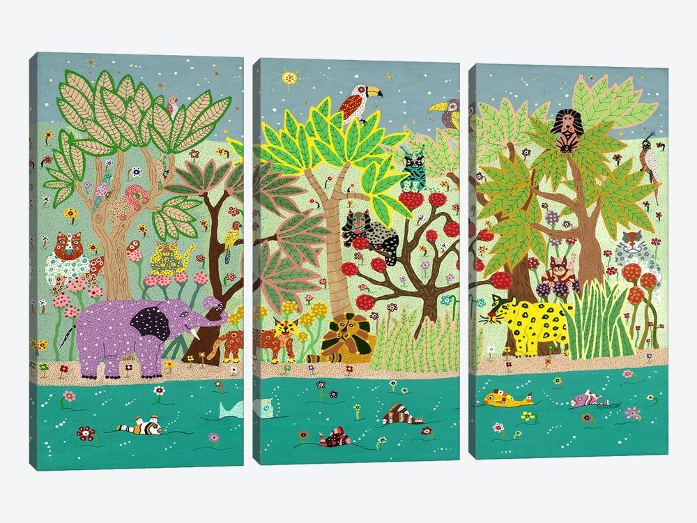 Jungle Beasts by David Sheskin 3-piece Canvas Art