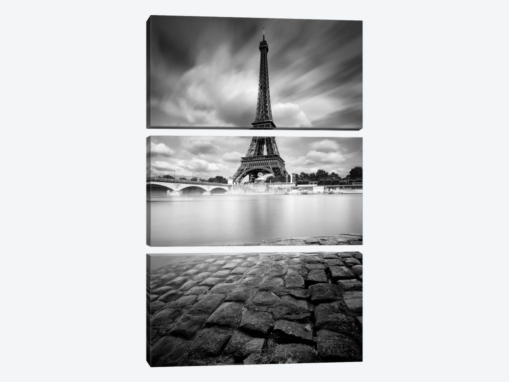 Eiffel Tower Study I by Moises Levy 3-piece Art Print