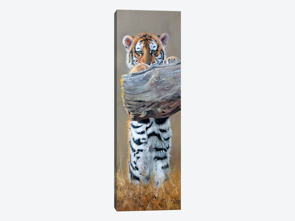 Tiger Cub Standing Up by Pip McGarry 1-piece Canvas Artwork