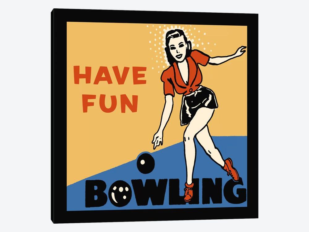 Have Fun Bowling by Retro Series 1-piece Art Print