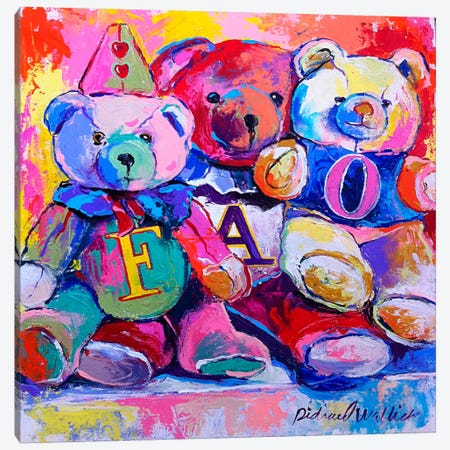 Bears Canvas Print #9846} by Richard Wallich Canvas Wall Art