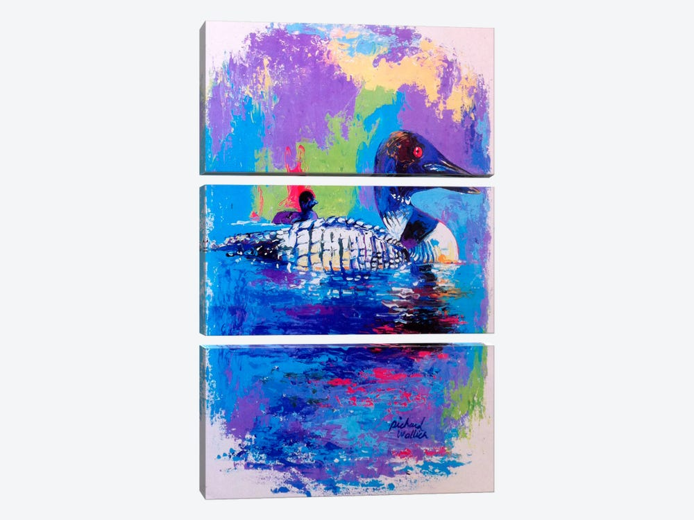 Ducks by Richard Wallich 3-piece Canvas Art Print