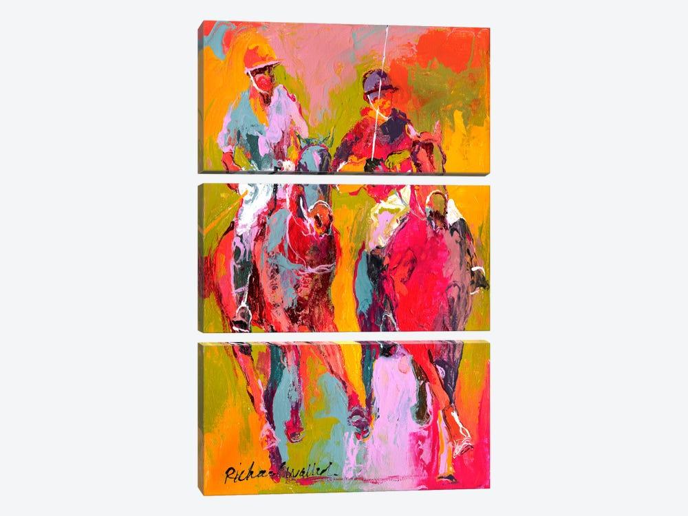 Polo II by Richard Wallich 3-piece Canvas Artwork