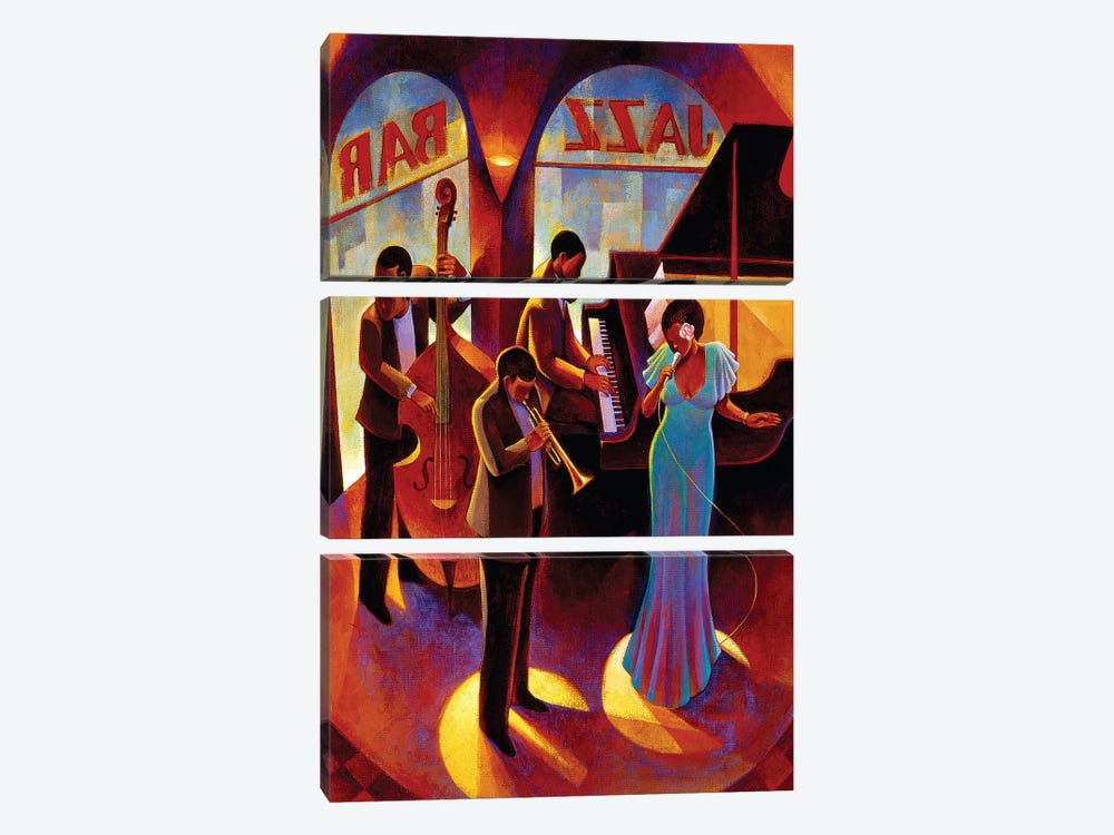 At The Top by Keith Mallett 3-piece Art Print