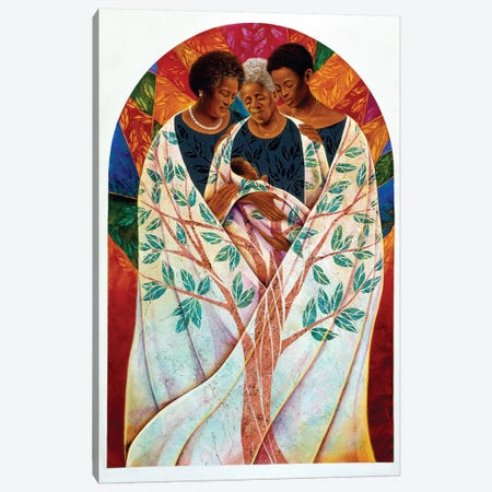 Family Tree 3-Piece Canvas #9865} by Keith Mallett Canvas Artwork