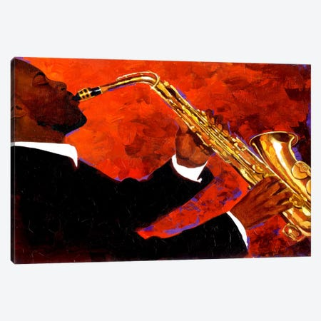 Man on Fire Canvas Print #9882} by Keith Mallett Art Print