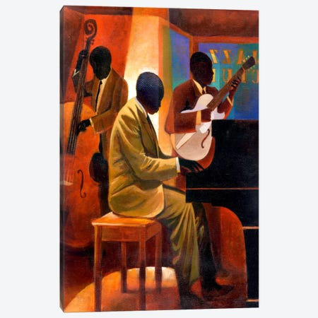 Piano Man Canvas Print #9885} by Keith Mallett Canvas Artwork