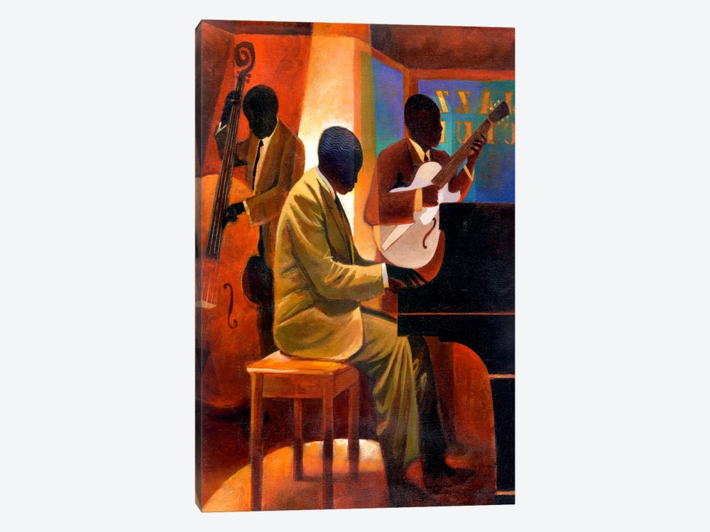 Piano Man by Keith Mallett 1-piece Canvas Print