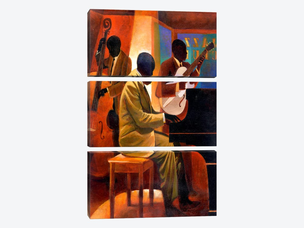 Piano Man by Keith Mallett 3-piece Art Print