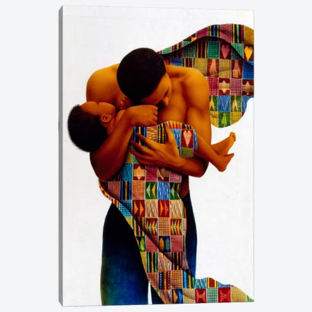 Sheltering Love Canvas Print #9890} by Keith Mallett Canvas Artwork