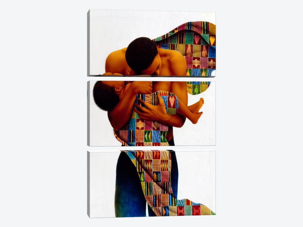 Sheltering Love by Keith Mallett 3-piece Canvas Print
