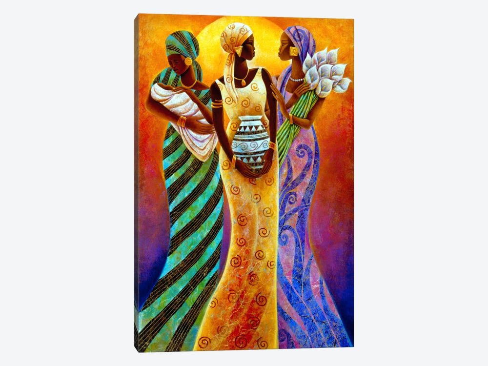 Sisters of The Sun by Keith Mallett 1-piece Canvas Print