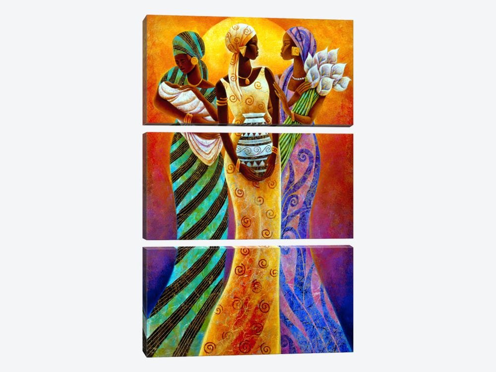 Sisters of The Sun by Keith Mallett 3-piece Art Print