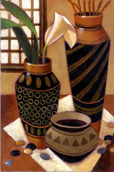 Still Life With African Bowl Art Print By Keith Mallett