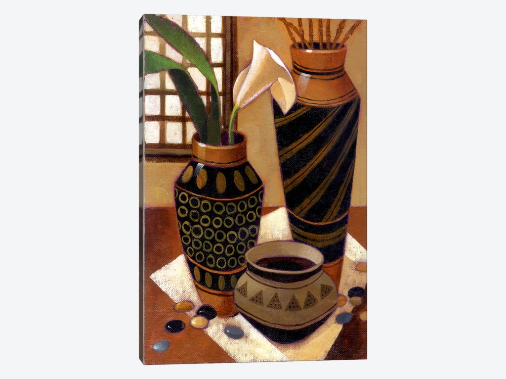 Still Life With African Bowl by Keith Mallett 1-piece Canvas Print