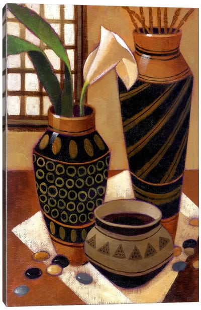 Still Life With African Bowl Canvas Art Print