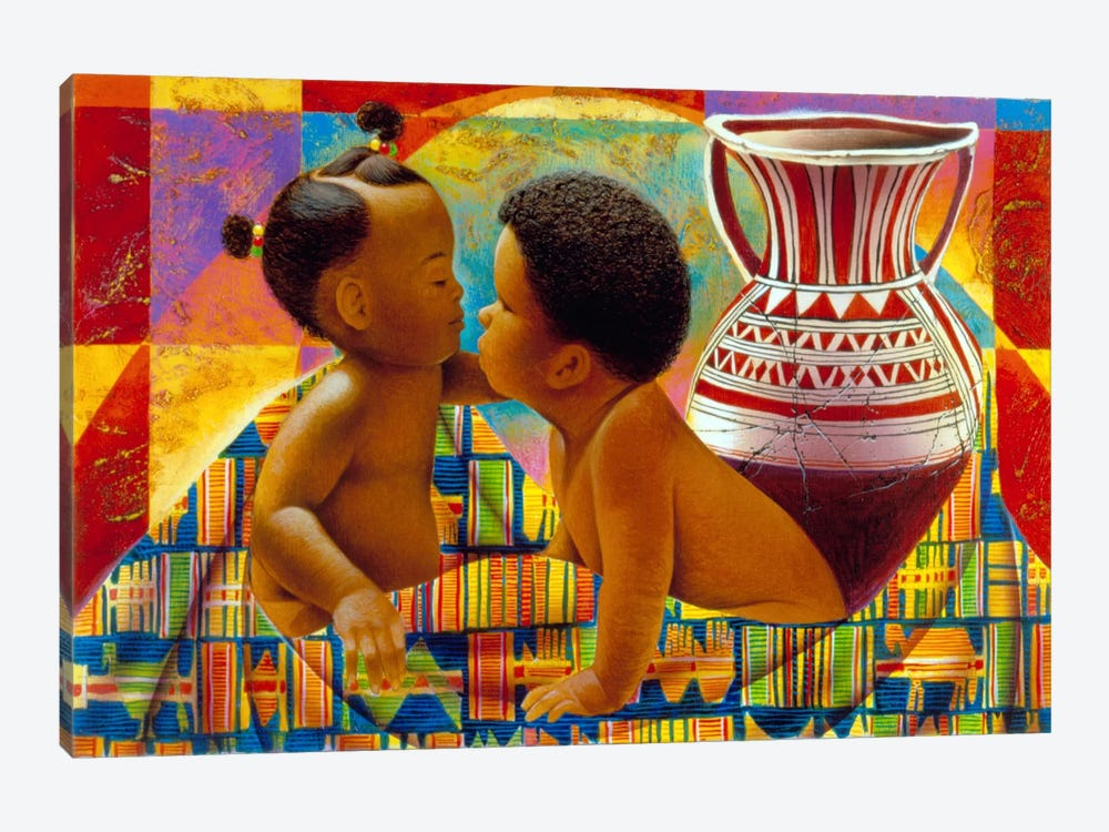 Treasures of Africa by Keith Mallett 1-piece Canvas Art Print