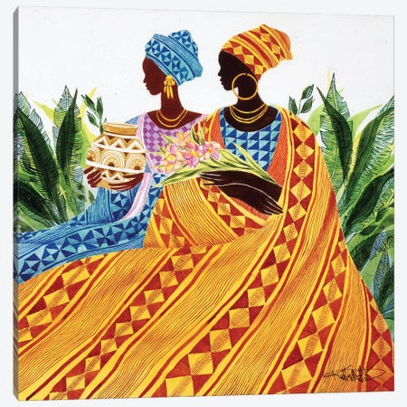 Two Sisters Canvas Print #9905} by Keith Mallett Art Print