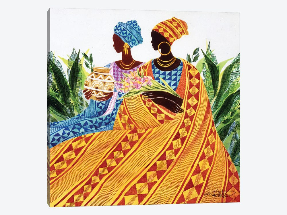 Two Sisters by Keith Mallett 1-piece Canvas Art