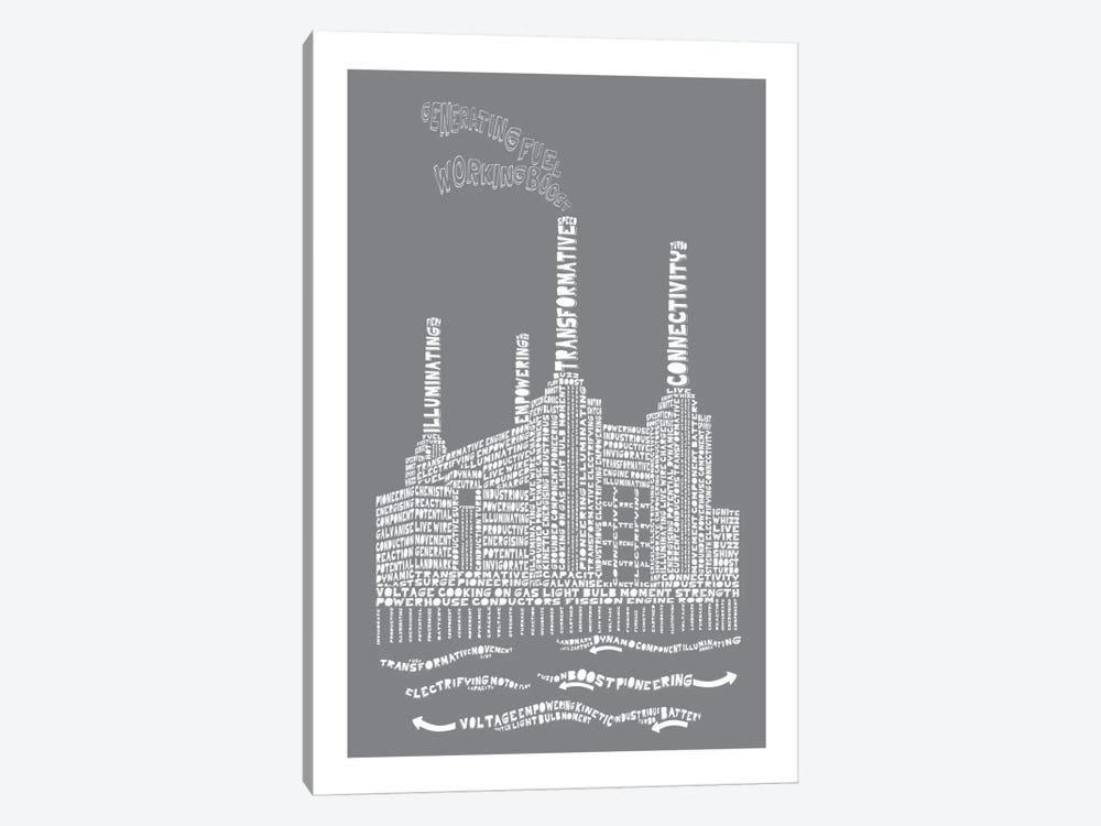 Battersea Power Station, London, Slate by Citography 1-piece Canvas Artwork