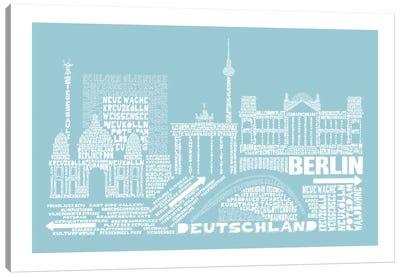 Berlin, Aqua Canvas Print #AAA11