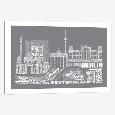 Berlin, Gray Canvas Print #AAA12} by Citography Canvas Art