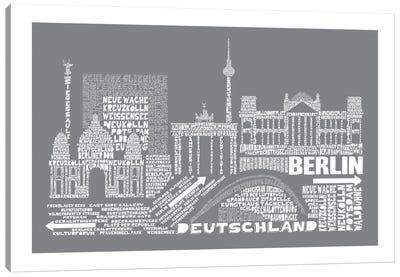 Berlin, Gray Canvas Print #AAA12