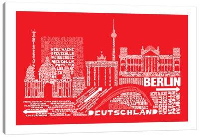 Berlin, Red Canvas Print #AAA13