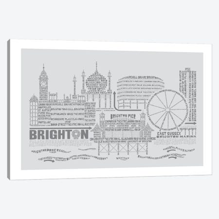 Brighton, Dove & Slate Canvas Print #AAA15} by Citography Canvas Art Print
