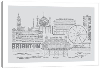 Brighton, Dove & Slate Canvas Print #AAA15